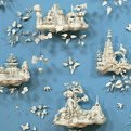Kitschy Ceramics Become 3D Toile Wallpaper