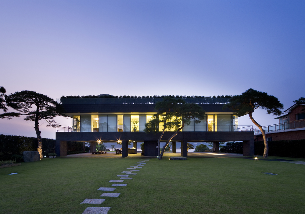 Korean floating house for Modern house korea