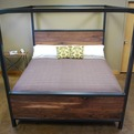 Kraftig Canopy Bed with Walnut