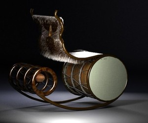 Kuker – a luxury rocking chair by Zarya Vrabcheva