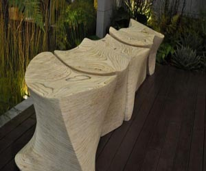 L5 Spine Bench: Sculptural Seating Design by Marie Khouri