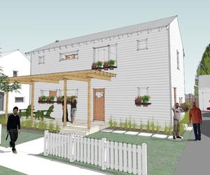 Lagom House 2 Story, New Energy Efficient House Plan