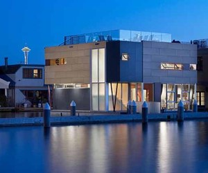 Lake Union Seattle Modern Floating Home