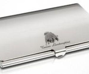 Lamborghini Silver Collection Business Card Holder