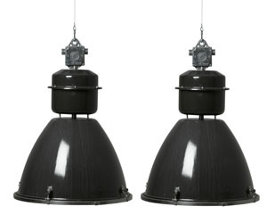 Large Czech Downlighters with Glass