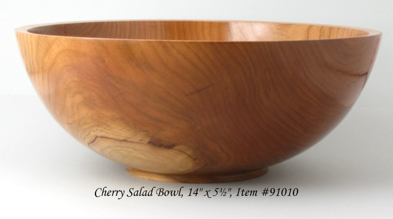 Large One Piece Cherry Salad Bowl