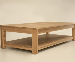 Large Solid Weathered Oak Coffee Table