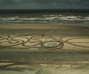 Larger Than Life Sandscape Drawings by Evewright