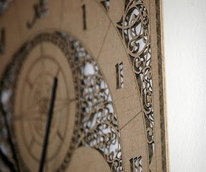 Laser Cut Corrugated Card Clocks - by The Rise Set