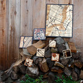Custom Laser-Cut Exotic Hardwoods Maps