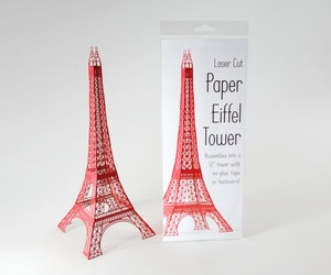 Laser Cut Paper Eiffel Tower on Kickstarter
