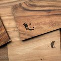 Laser engraved chopping boards