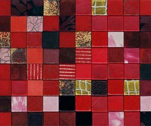 leather mosaic wall panels
