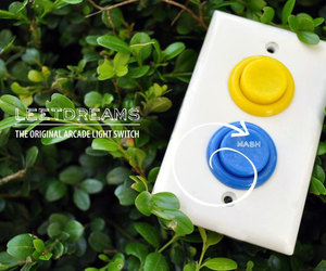 Leet Dreams Arcade Light Switch