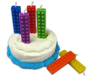 Lego-Shaped Birthday Candles from NuOp Design