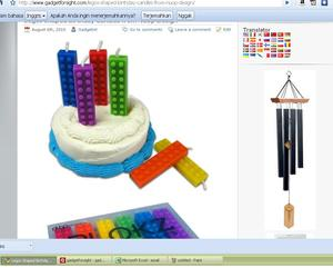 Legos Shaped Birthday Candles from NuOp Design