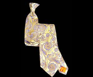 Lemon Paisley Silk Tie