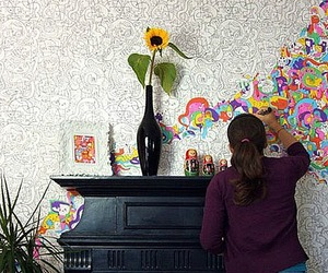 Let's Color on the Walls!