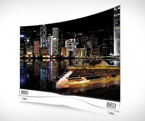 LG OLED Curved Screen TV