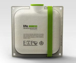Life: The paper-made Water Bottle by Andrea Ponti