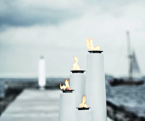 Lighthouse, Unique Outdoor Oil Lamps by Menu