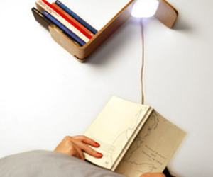 Lili Lite: a shelf, a light and a bookmark