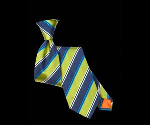 Lime Striped Tie