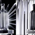 Limited Edition Crystal 'Pinstripe' Absolut Bottles
