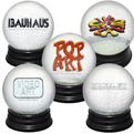 Limited edition Snow Globes celebrate the History of Art.