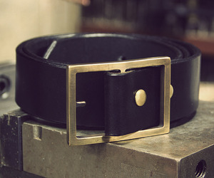 Limited edition solid brass buckle & belt