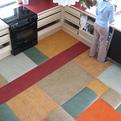 Linoleum remnant floor