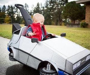 Little Cooper's DeLorean Costume for Halloween