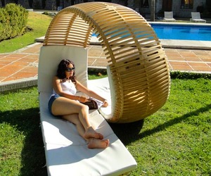 Loopita Bonita: Outdoor Double Lounger by Victor M. Aleman