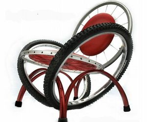 Lounge Chair From Bike Rims