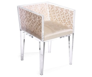 Lucite and Lace Chair by Floral Art