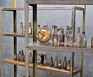 Lupert Vintage Industrial Shallow Steel Bookshelf