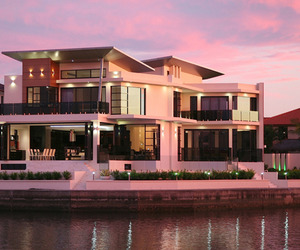 Luxurious waterfront property in Australia