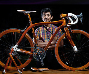 Luxury Mahogany Wood Racing Bikes