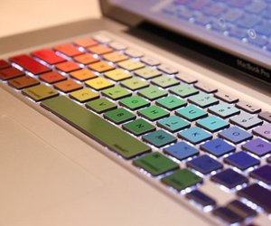 MacBook Rainbow Keyboard Stickers