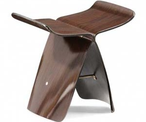 Mace Stool:  Bent Wood by Zuo Modern