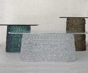 Macramé Glass Tables By Lucidi Pevere
