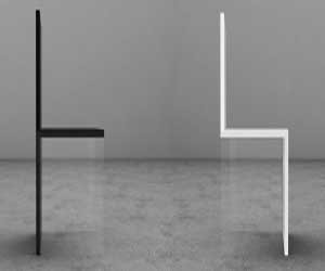 Magic Chair with Invisible Feet from Davide Conti