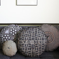 Manhole and Sewer Cover Throw Pillows.