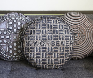 Manhole covers to rest in your living room