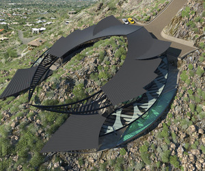 Manta Ray Shaped House on Mummy Mountain Arizona