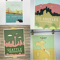 Map & City Skyline Prints