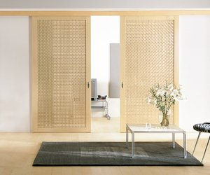 Maple Lattice Sliding Doors