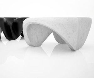 Marble Tables by Zaha Hadid