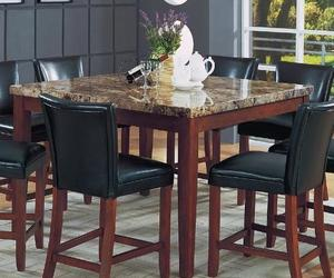 marble top square dining table by coaster. Black Bedroom Furniture Sets. Home Design Ideas