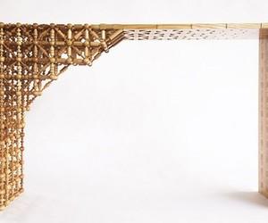Gradient Mashrabiya Table Created by Mischer'traxler